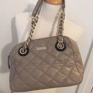 NWT KATE SPADE QUILTED LEATHER BAG PURSE CHAIN
